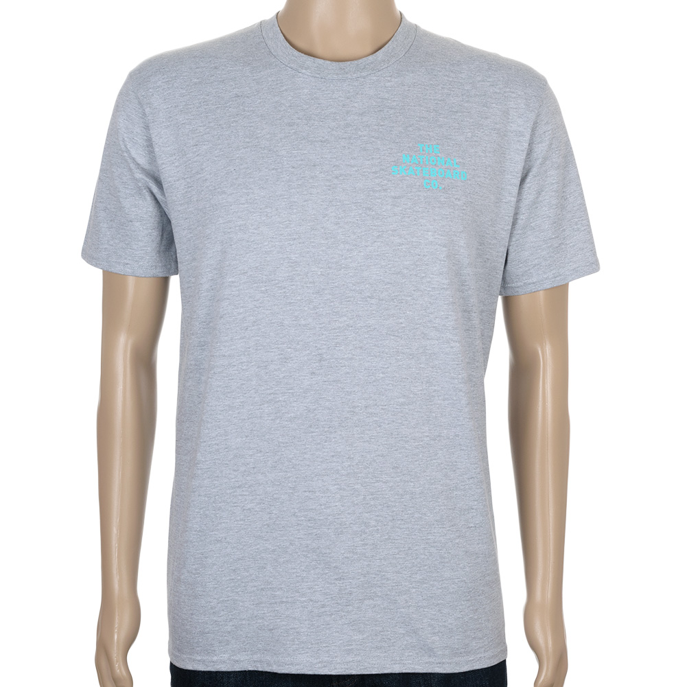 The National Logo T Shirt Heather Grey