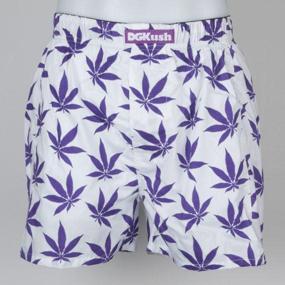 DGK Skateboards DGKush Boxer Shorts White And Purple