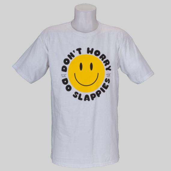 Girl Skateboards T-Shirt Don't Worry Do Slappies White