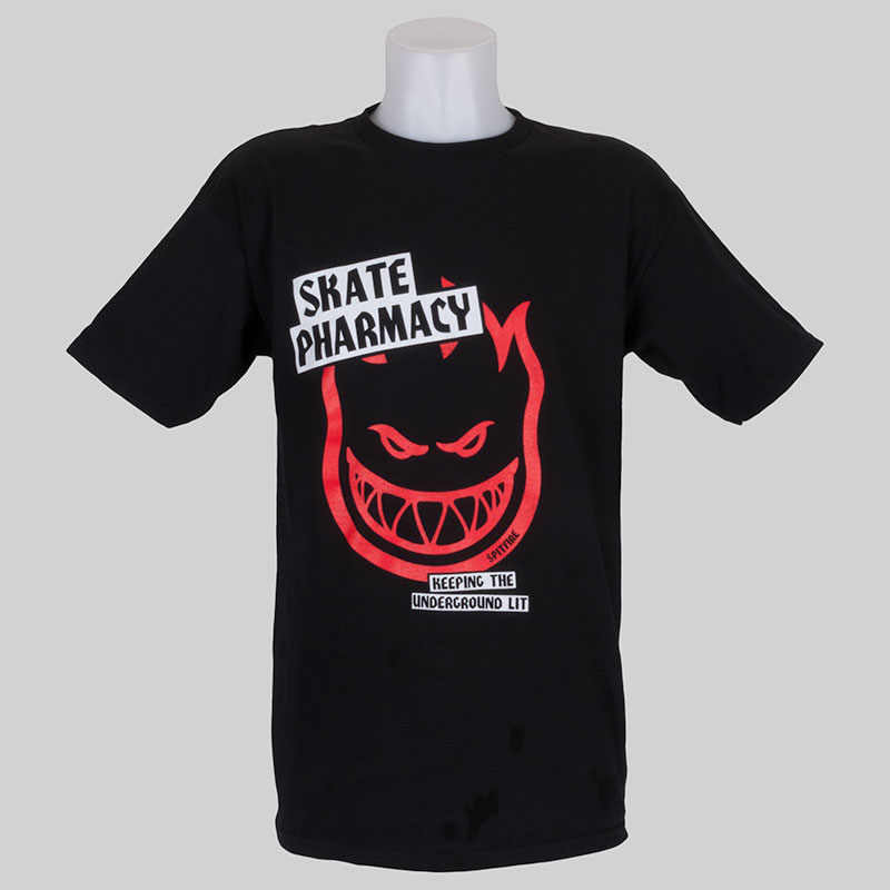 Buy spitfire x skate pharm clothing logo t shirt at skate for Where to order shirts with logos