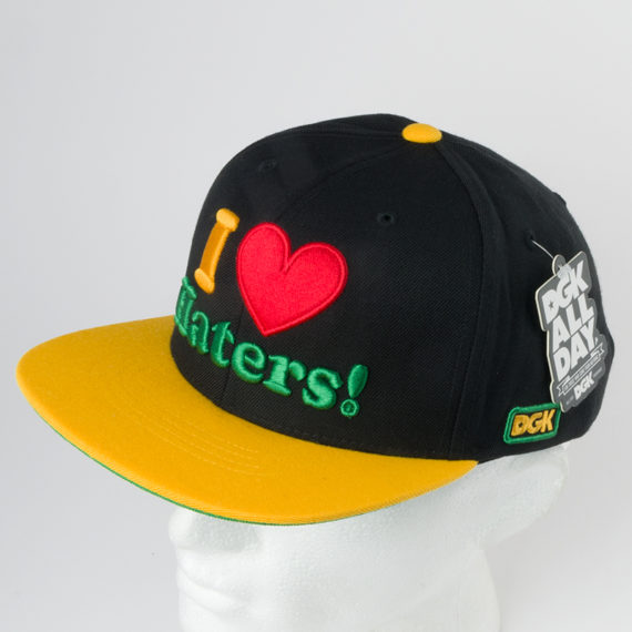 DGK Skateboards I Love Haters Snapback Black
