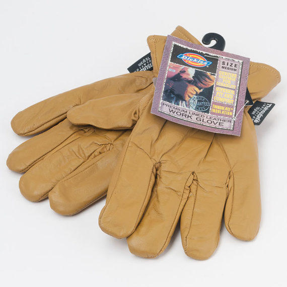 Dickies Clothing Gloves Lined Leather Glove Tan