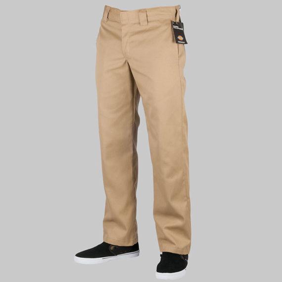 Dickies Clothing Trousers Slim Straight Work Pant Khaki