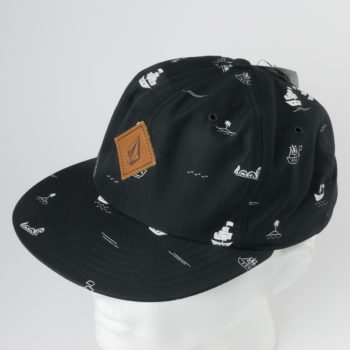 Volcom Clothing Hat Baggy Snapback Black