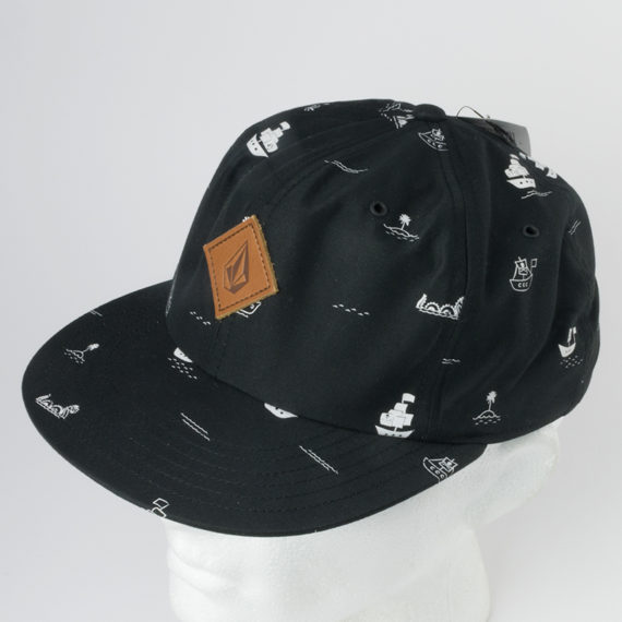Volcom Clothing Hat Baggy Snapback Black