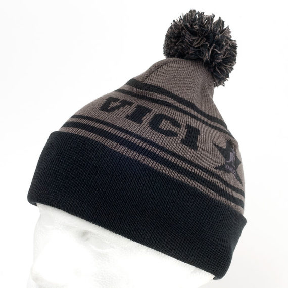 Kangol Conquer Bobble Hat Grey Black