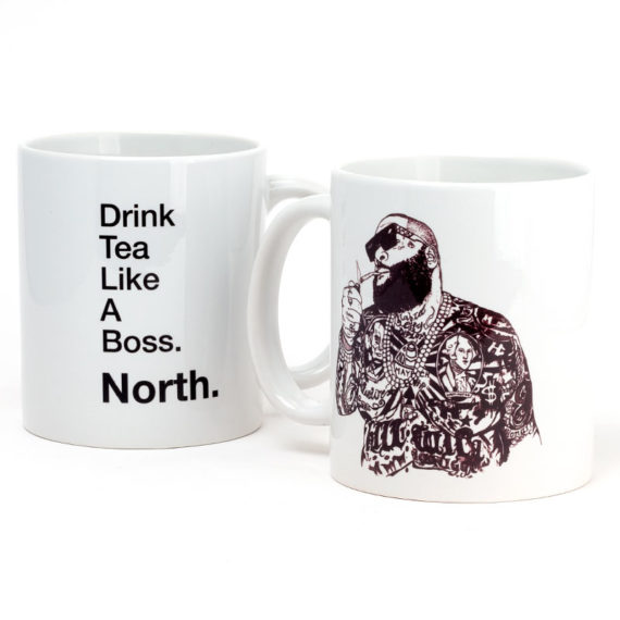 North Magazine Mug Drink Tea White