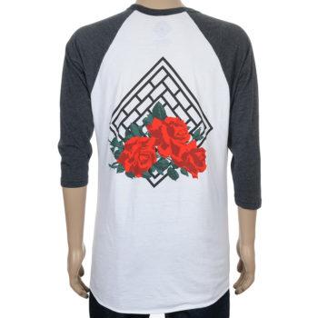 The National Rose Raglan T-Shirt White