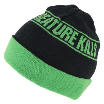 CREATURE KILLS ROLLLUP BEANIE Black Green