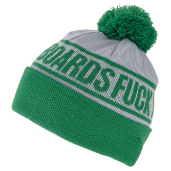 CREATURE FU POM BEANIE Grey Green