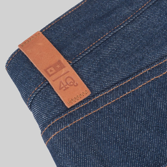 SALE 4Q Conditioning Clothing Heavy Duty 5 Pocket Jeans Raw Indigo 3
