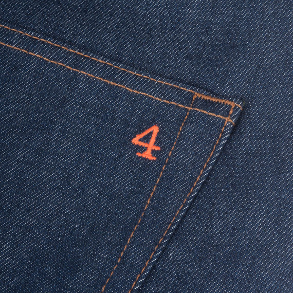SALE 4Q Conditioning Clothing Heavy Duty 5 Pocket Jeans Raw Indigo 4