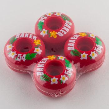 Baker Skateboards Wheels 54mm Red