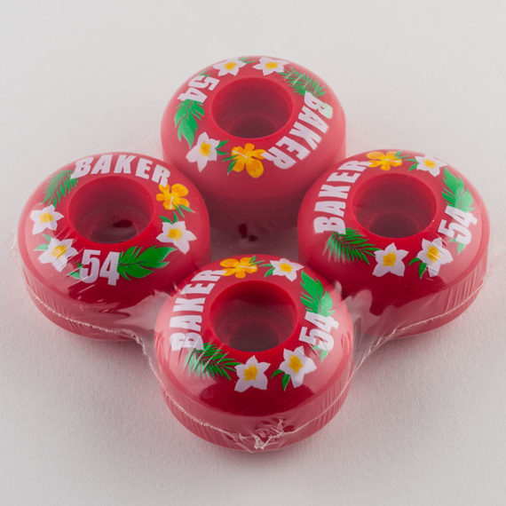 Baker Skateboards Wheels 54mm Red