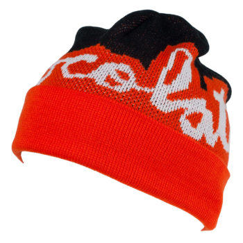 Chocolate Beanie Mega Chunk Fold Orange Black