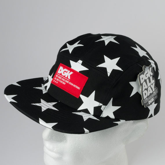 DGK Skateboards Hat Justice 5 Panel Black 1