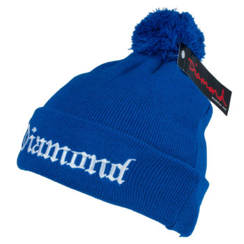 Diamond Supply Co Pom Beanie Diamond 4 Life Royal Blue