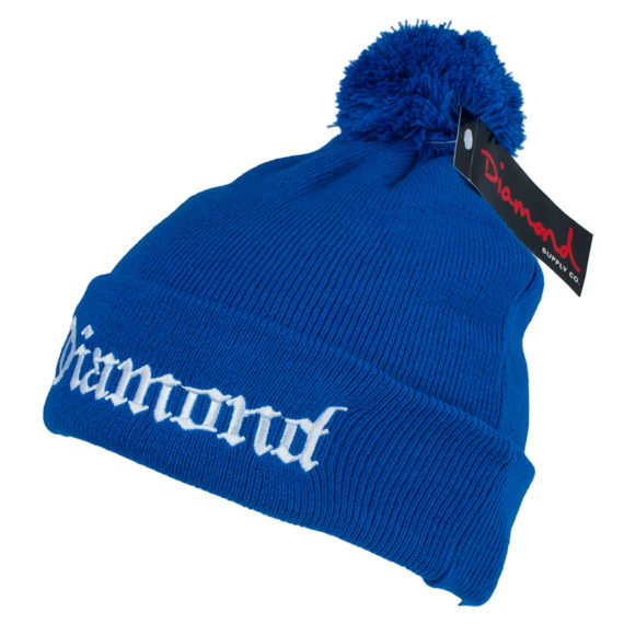 Diamond Supply Co Pom Beanie Diamond 4 Life Royal Blue