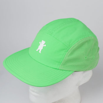 Grizzly Griptape O.G. Bear 5 Panel Hat Lime