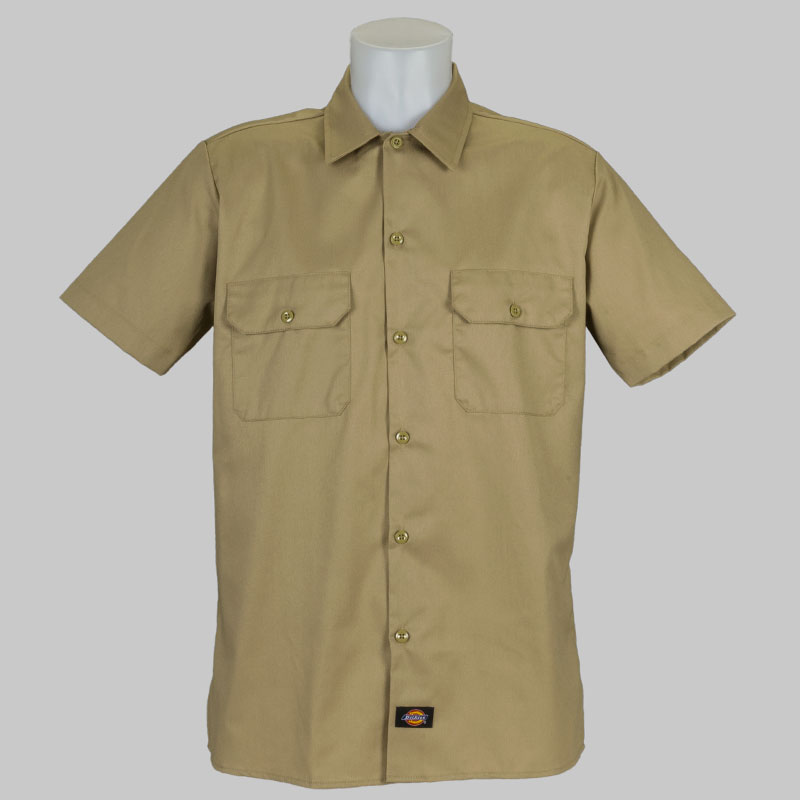 Buy dickies clothing short sleeve work shirt khaki at for Dickey shirts clothing co