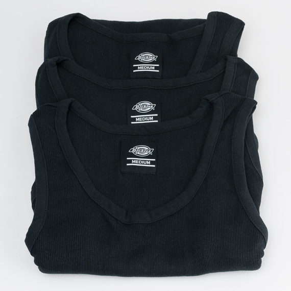 Dickies Clothing Vest 3 Pack Black