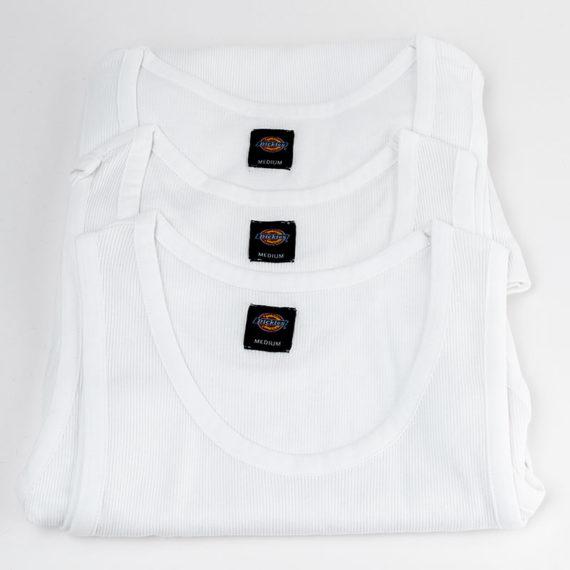 Dickies Clothing Vest 3 Pack White