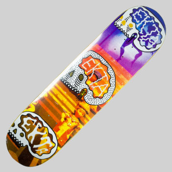 Ekta Skateboards Deck Magic Skulls Yellow Fever 8.0""