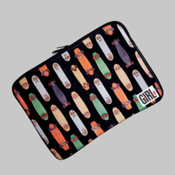 Girl Skateboards Laptop Case Rad Planks Black