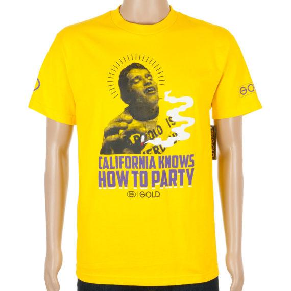 Gold Wheels T-Shirt Cali Party Yellow