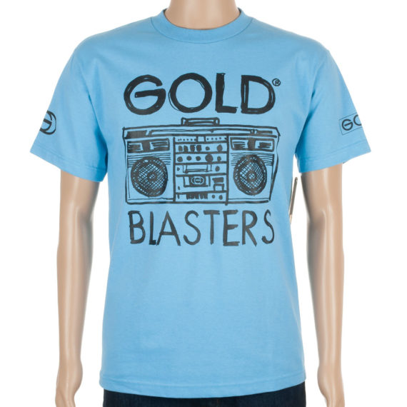 Gold Wheels T-Shirt Blasters Carolina Blue