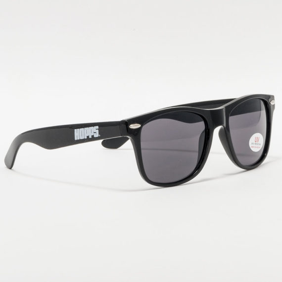 HOPPS Skateboards Logo Sunglasses Black