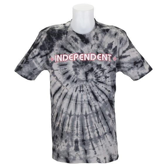 Independent Trucks Tie Dye Bar Cross T-Shirt Black