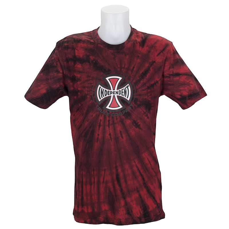 Buy independent trucks tie dye truck co t shirt red at for The red t shirt company