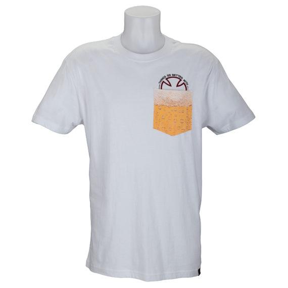 Independent Trucks Beer Pocket T-Shirt White 1