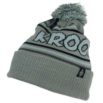 Krooked Skateboards Skate Pom Beanie Grey