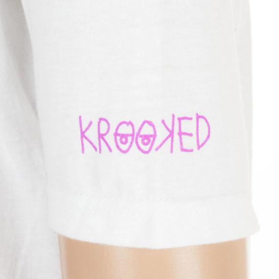 Krooked Skateboards T-Shirt LSDude White