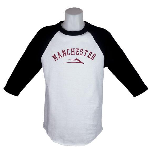 Lakai Manchester Raglan T-Shirt White Black