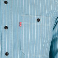Levi's Skate Clothing Maintenance Long Sleeve Shirt Stripe Blue