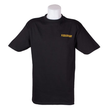Passport A Friendly Message T-Shirt Black