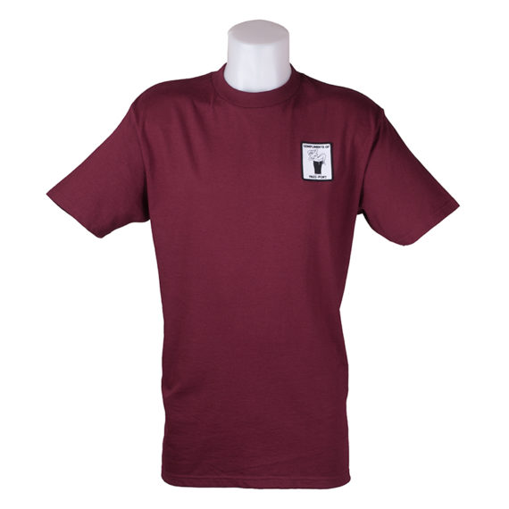 Passport With Compliments T-Shirt Burgundy 1