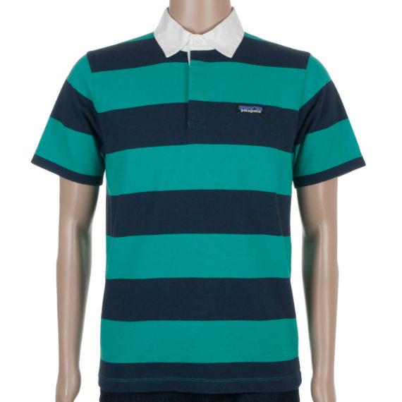 Patagonia Clothing Mens Sender Rugby Shirt Emerald