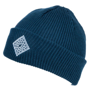 The National Skateboard Co x Post Details Clothing Collab Beanie Navy