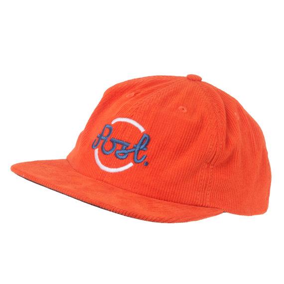 Post Details Circle Anti Fit Six Panel Hat Orange 1
