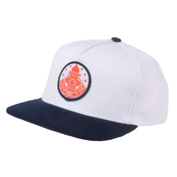 Post Details Hydrant Strapback Hat White 1