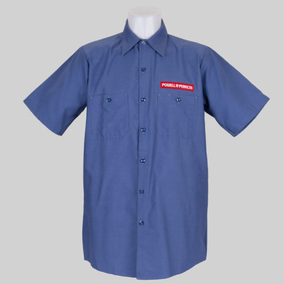 Powell Peralta Skate Guard Short Sleeve Shirt Blue 2