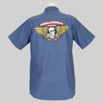 Powell Peralta Skate Guard Short Sleeve Shirt Blue