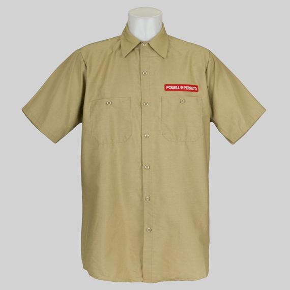 Powell Peralta Skate Guard Short Sleeve Shirt Khaki 2