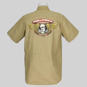 Powell Peralta Skate Guard Short Sleeve Shirt Khaki