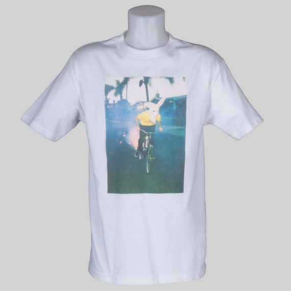 Quiet Life Bunny Bike T Shirt By Aaron Farley White