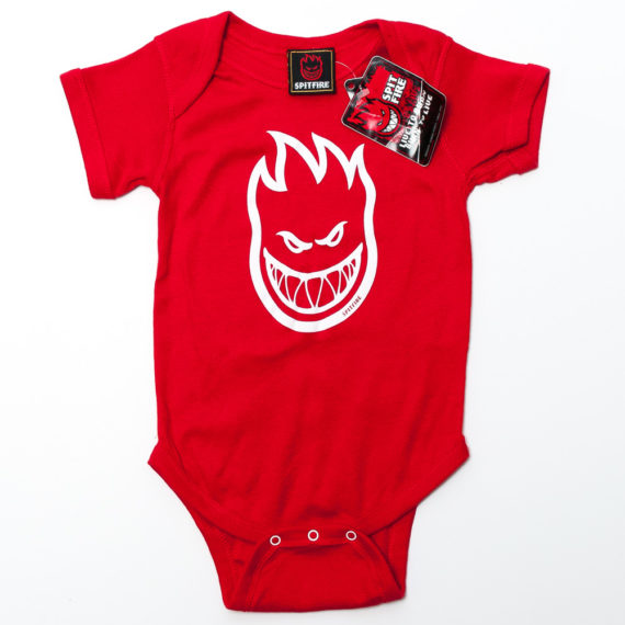 Spitfire Wheels Baby Grow Bighead Red